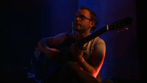 Michael Gruber an der Gitarre